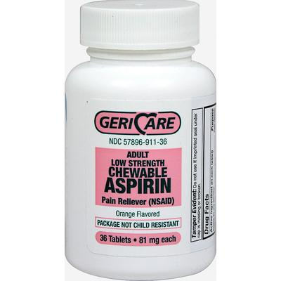 Gericare Low Dose Aspirin Chewable 81 mg-36 Tablets