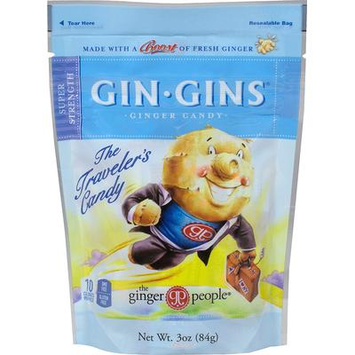 Ginger People Gin Gins Super Strength Ginger Candy-3 oz Bag