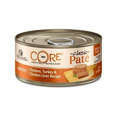 Wellness CORE Grain-Free Chicken, Turkey & Chicken Liver Canned Cat Food, 5.5-oz can, 24ct