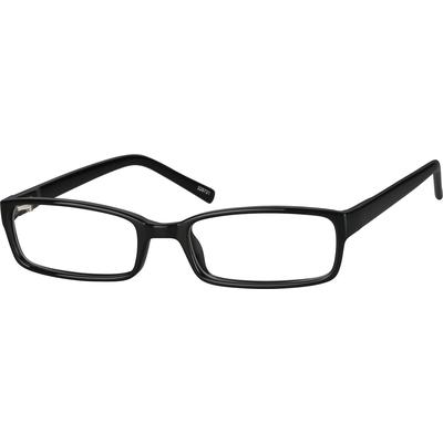 Zenni Geek Chic Rectangle Prescription Glasses Black Frame Plastic 228721