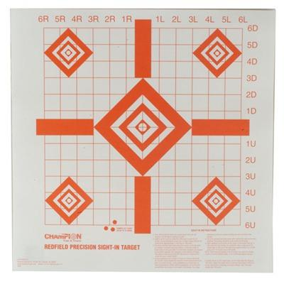 Champion Targets Sight-In Target - Redfield Style Precision Sight-In Targets, 100 Pack
