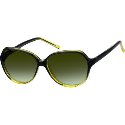 Zenni Womens Sunglasses Green Frame Other Plastic A8262024