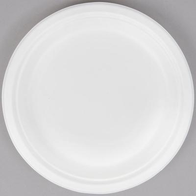 """Green Wave Ovation Sugarcane / Bagasse OV-P009 9"""" Biodegradable and Compostable Premium Plate - 500/Case"""