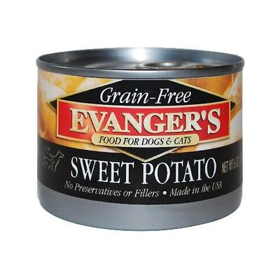 Evanger's Grain-Free Sweet Potato Canned Dog & Cat Food Supplement, 6-oz, case of 24