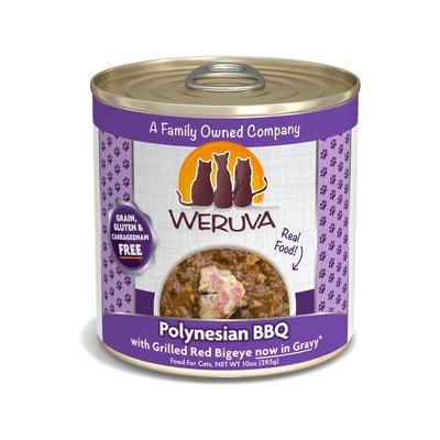 Weruva Polynesian BBQ with Grilled Red Bigeye Grain-Free Canned Cat Food, 10-oz, case of 12