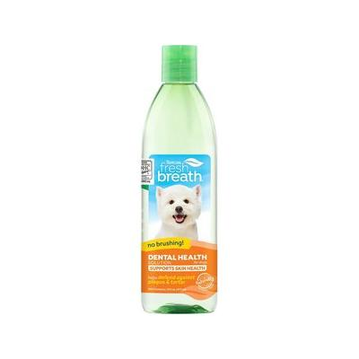 TropiClean Fresh Breath Water Additive + Plus Skin & Coat, 16-oz bottle