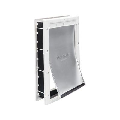 PetSafe Plastic Door, Large; No more barking at the door in the mornings; now Buster can let himself out! The PetSafe Plastic Pet Door has a paintable plastic frame and snap-on closing panel that attaches easily to virtually any interior or exterior...
