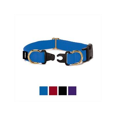 PetSafe Keep Safe Break-Away Royal Blue Dog Collar, Medium, 1-in width; This collar is designed to prevent strangulation accidents. Dogs collars can get snagged on so many things: fences, decks, kennels and crates, bushes, floor grates-even other dog\'s...