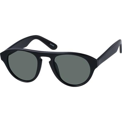 Zenni Womens Sunglasses Black Frame Plastic A10120421