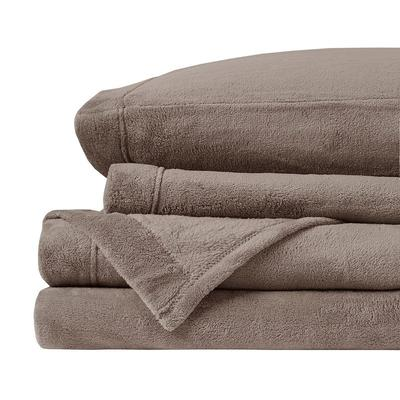 True North by Sleep Philosophy Microplush Sheets, Brown Full