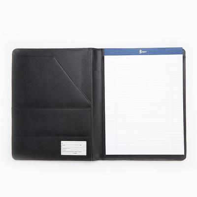 Royce Leather Padfolio, Black
