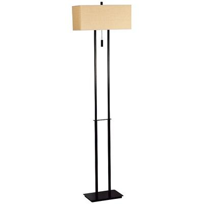Emilio Bronze Finish Floor Lamp, Brown