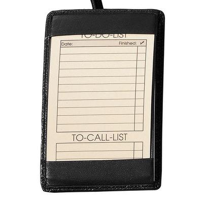 Royce Leather Note Jotter, Black