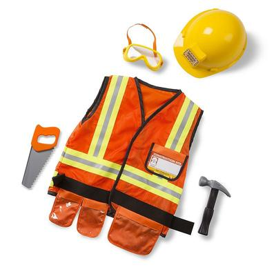 Melissa and Doug Construction Worker Costume - Kids, Multicolor