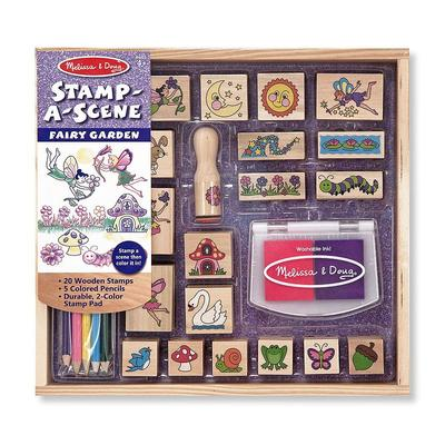 Melissa and Doug Stamp-A-Scene Fairy Garden, Multicolor
