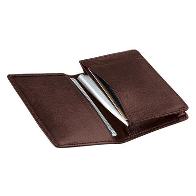 Royce Leather Deluxe Business Card Case, Adult Unisex, Brown