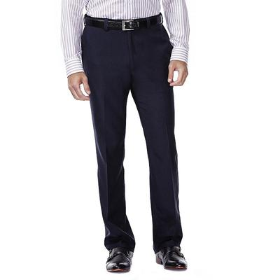 Men's Haggar eCLo Stria Classic-Fit Flat-Front Dress Pants, Size: 42X32, Blue