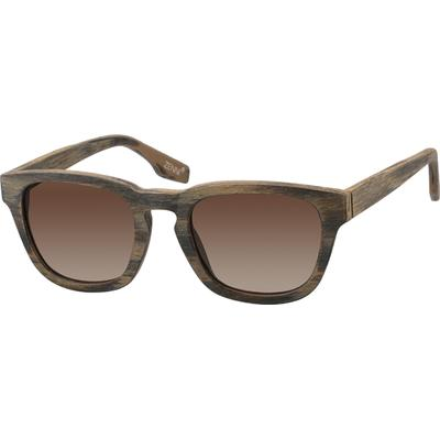 Zenni Womens Sunglasses Brown Frame Plastic A10121135