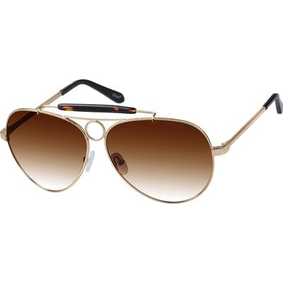 Zenni Mens Sunglasses Gold Frame Other Metal A10102614