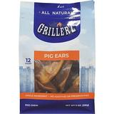 Grillerz Smoked Pig Ears Dog Treats, 12 count