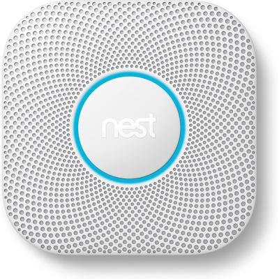 Nest Protect w/ Battery (White) 2nd Gen Smoke & Carbon Monoxide Detector