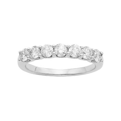 IGL Certified Diamond Wedding Ring in 14k Gold (1 Carat T.W.), Women's, Size: 8, White