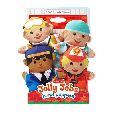 Melissa & Doug Jolly Jobs Hand Puppets, Multicolor