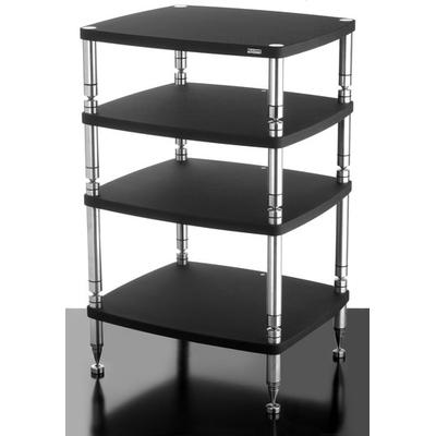 solidsteel HF-4 Audio Rack 4 Shelf- Black