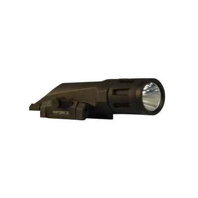Inforce WMLx Gen2 Tactical Strobing Weapon Light LED with 2 CR123A Battery Fits Picatinny Rails Fiber Composite Black