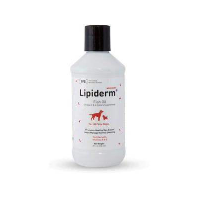 International Veterinary Sciences Lipiderm Fish Oil Omega 3 & 6 Liquid Dog Supplement, 8-oz bottle; Help your dog feel comfortable in his skin with the IVS Lipiderm Fish Oil Omega 3 & 6 Liquid Dog Supplement. Formulated by veterinarians, the...