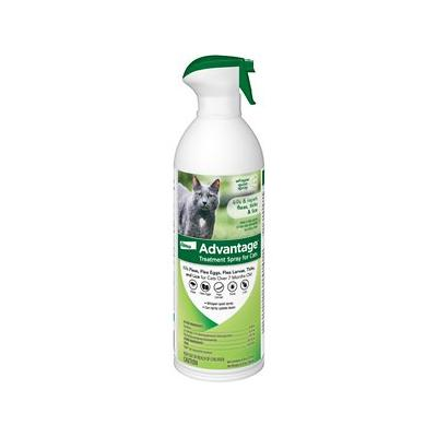 Advantage Flea Treatment Spray for Cats, 8-oz bottle; Help protect your favorite feline and your home from parasitic pests with Advantage Flea & Tick Treatment Spray for Cats. Designed to aid in the control of flea bite dermatitis, this EPA-regulated...
