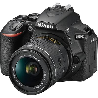 Nikon D5600 DX-Format Digital DSLR, w/ 18-55mm VR Black, 24.2MP,5fps, ISO to 25,600, HD on Sale