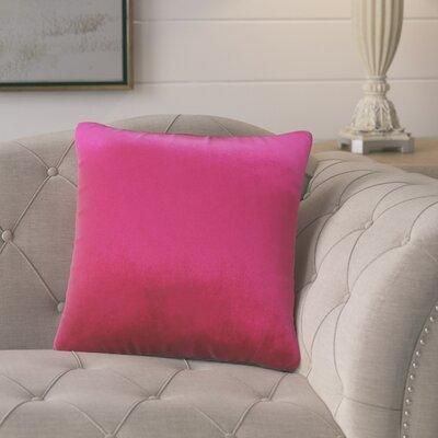 Color: Pink Gracie Oaks Pittenger Soft Luxury Velvet Throw Pillow Both fun and functional, this Pittenger Soft Luxury Velvet Throw Pillow is the perfect pillow to update your home\'s decor. Featuring a luxury velvet fabric, this pillow is a classic...