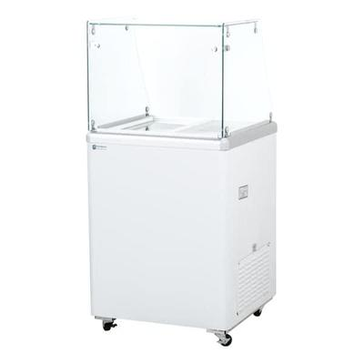 Excellence Industries EDC-4HC 24.75 Stand Alone Ice Cream Dipping Cabinet w/ 3 Tub Capacity - White, 115v