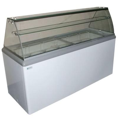 Excellence Industries HBD-12HC 70.75 Stand Alone Ice Cream Dipping Cabinet w/ 22 Tub Capacity - White, 115v