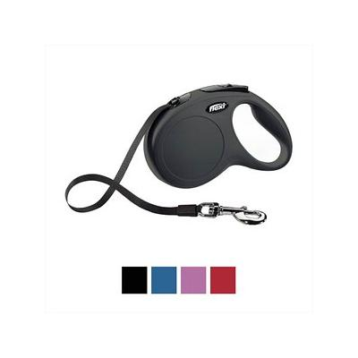 Flexi New Classic Retractable Tape Dog Leash, Black, Small, 16-ft; Enjoy superior control and security with the Flexi New Classic Retractable Tape Dog Leash. Because there are moments when a split second can change everything, this leash features a...