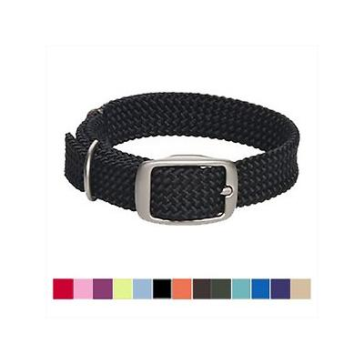 "Mendota Products Double Braid Dog Collar, Black, 21-in ; Discover the timeless design and lasting quality of the Mendota Products Double Braid Collar. Handcrafted in the USA, this collar is made from a durable, multi-filament rope with a ""broken in""..."