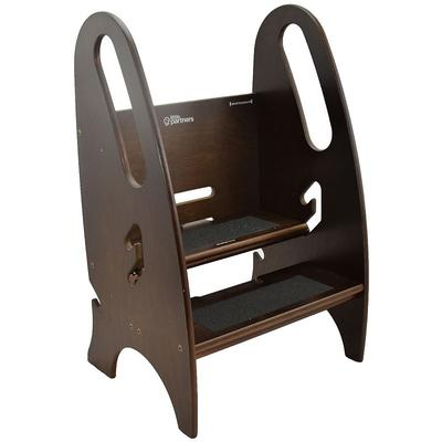 Little Partners 3-in-1 Growing Step Stool, Brown
