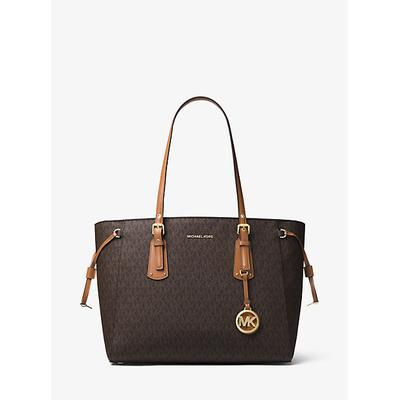 MICHAEL Michael Kors Voyager Medium Logo Tote Brown ONE SIZE