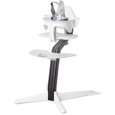 Evomove Nomi Highchair - White/Black Oak