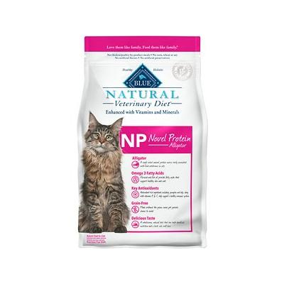 Blue Buffalo Natural Veterinary Diet NP Novel Protein Alligator Grain-Free Dry Cat Food, 7-lb bag