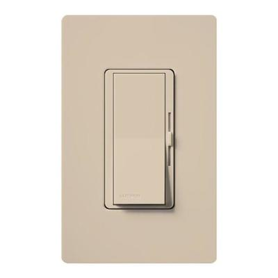 Lutron 50510 - 120 volt Taupe 300 watt Toggler Single-Pole Electronic Low Voltage Wall Dimmer Switch