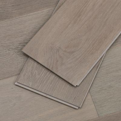 Gray Water-Resistant Hardwood Floors, Fast Install, Sample