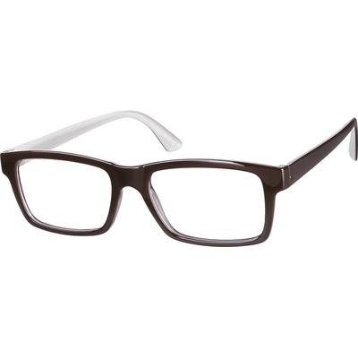 Zenni Rectangle Prescription Glasses Brown Frame Plastic 244815